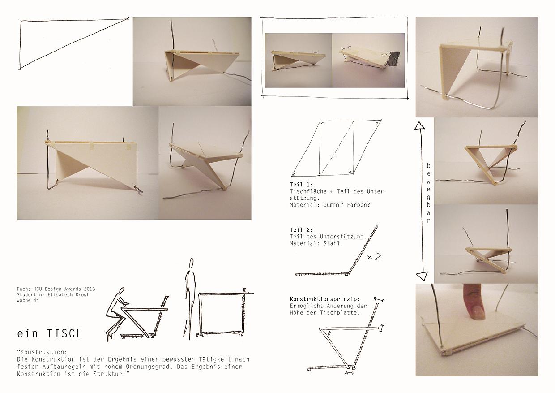 Konstruktion erklären wie sieht der tisch aus