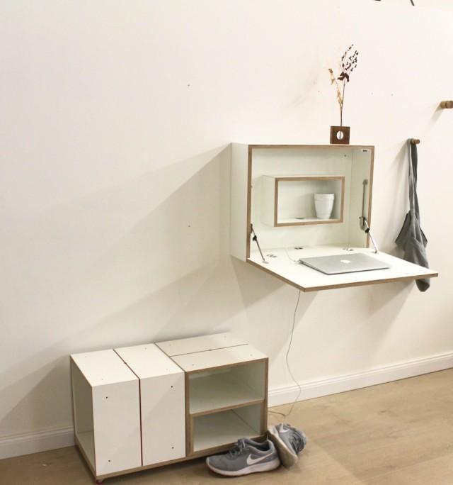 ausklappbarer schreibtisch papillon andreas janson. Black Bedroom Furniture Sets. Home Design Ideas
